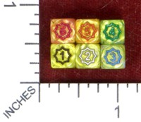 Dice : MINT50 UNKNOWN CHINESE SCALLOPED D6