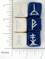 Dice : NON NUMBERED OPAQUE ROUNDED SOLID DIVINATION 02