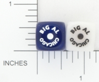 Dice : D6 OPAQUE ROUNDED IRIDESENT GAMESTATION BIG AL CHICAGO