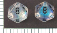 Dice : D8 TRANSLUCENT ROUNDED GLITTER CHESSEX BOREALIS 2