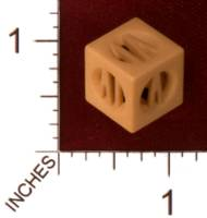 Dice : MINT30 SHAPEWAYS 2D3DME DICE 1 ROMAN NUMERALS 01