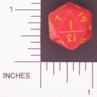 Dice : D20 OPAQUE ROUNDED SOLID CRYSTAL CASTE DOH 02 DEFECTIVE