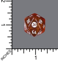 Dice : D20 MTG CLEAR ROUNDED GLITTER WIZARDS OF THE COAST MTG FROM THE VAULT TWENTY