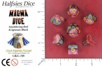Dice : MINT52 GATE KEEPER GAMES HALFSIES DICE MAGMA