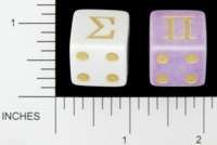 Dice : D6 OPAQUE ROUNDED SOLID GAMESTATION SIGMA PI