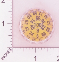 Dice : D100 YELLOW CLEAR AND BLACK LARGE WITH CLEAR 01