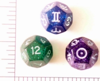 Dice : D12 TRANSLUCENT ROUNDED GLITTER 2
