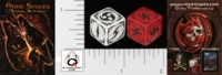 Dice : D6 OPAQUE ROUNDED SOLID Q WORKSHOP ANNE STOKES 02