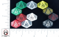Dice : D10 OPAQUE ROUNDED SOLID Q WORKSHOP ELVEN II 02