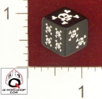 Dice : MINT22 Q WORKSHOP SKULL AND CROSSBONES 01