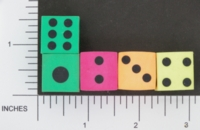 Dice : D6 2 OPAQUE SHARP SOLID ERASERS 01