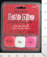 Dice : MINT16 AMSCAN GET LUCKY LOVE DICE 01