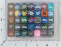 Dice : MINT16 CHESSEX 16MM D6 COLOR REFERENCE PACK 02