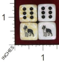 Dice : MINT41 JSPASSNTHRU BOSTON TERRIER