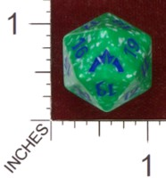Dice : D20 OPAQUE ROUNDED SPECKLED MTG LIFE COUNTERS GATECRASH 05