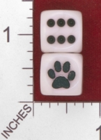 Dice : MINT27 CHESSEX CUSTOM FOR JSPASSNTHRU PAW PRINT 01