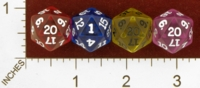 Dice : D20 CLEAR ROUNDED SOLID KOPLOW NEW MOLD 01