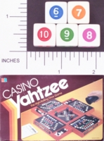 Dice : NUMBERED OPAQUE SHARP SOLID CASINO YAHTZEE 01