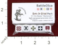 Dice : MINT44 BATTLESCHOOL BATTLEDICE NATIONALS AXES TO GRIND PACK