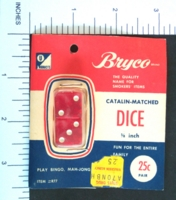 Dice : MINT2 BRYCO RED CLEAR 2 FIVE EIGHTHS 01