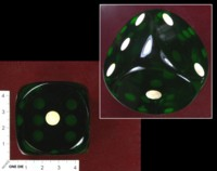 Dice : MINT36 UNKNOWN HUGE GREEN