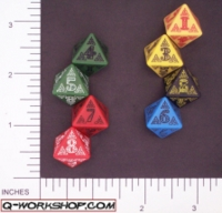 Dice : D8 OPAQUE ROUNDED SOLID Q WORKSHOP CELTIC II 02