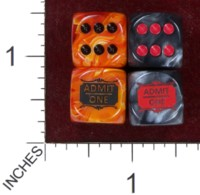 Dice : MINT37 CHESSEX FOR PAUL VINCENT POCKET TIME MACHINE PLAYING CARDS