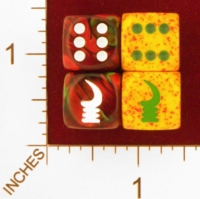 Dice : MINT25 CHESSEX CUSTOM FOR EBAY RACERSKA ADINKRA AKOBEN WARHORN 01