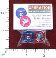 Dice : MINT48 BATTLESCHOOL BATTLEDICE OPERATION MARKET GARDEN BRITISH ARMY GUARDS ARMORED AND BRITISH AIRBORNE