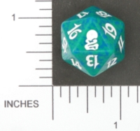 Dice : D20 OPAQUE ROUNDED SPECKLED MTG LIFE COUNTERS ODYSSEY 02