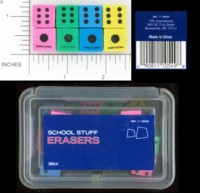 Dice : DUPS06 TYS INTERNATIONAL DICE ERASERS 01
