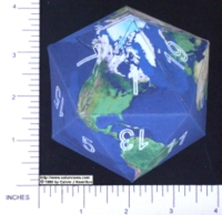 Dice : PAPER D20 3 ICOEARTH