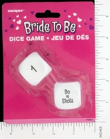 Dice : MINT14 UNIQUE PARTY FAVORS BRIDE TO BE 01