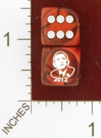 Dice : MINT26 CHESSEX CUSTOM FOR EBAY RACERSKA OBAMA 2012 01