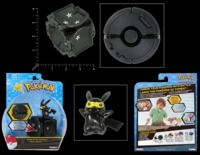 Dice : MINT55 TOMY POKEMON THROW N POP NINJA BALL PIKACHU FAN RECOLOR