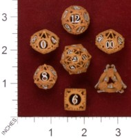 Dice : MINT33 SHAPEWAYS AVANDIUS STEAMPUNK GEAR DICE SET 01