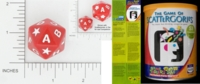 Dice : D20 OPAQUE ROUNDED SOLID PARKER BROTHERS SCATTERGORIES 01