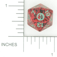 Dice : D20 OPAQUE ROUNDED SPECKLED UNKNOWN BKTRADE 01