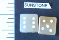 Dice : STONE D6 SUNSTONE