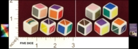 Dice : NON NUMBERED D6 RAINBOW ORACLE