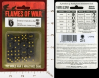 Dice : MINT26 FLAMES OF WAR DD015 FELDHERRNHALLE DICE 01