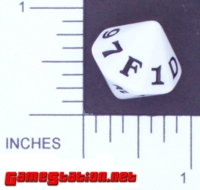 Dice : D16 OPAQUE ROUNDED SOLID GAMESTATION HEXIDIE 01