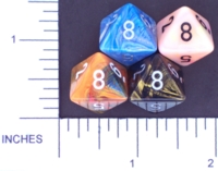 Dice : D8 OPAQUE ROUNDED IRIDESCENT CHESSEX MENAGERIE 02
