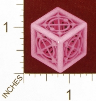 Dice : MINT28 SHAPEWAYS MCTRIVIA D6 GRID DIE 06 12