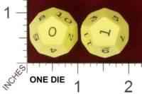 Dice : D12 OPAQUE SHARP SOLID UNKNOWN 0 TO 11 01