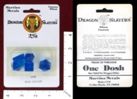 Dice : MINT40 MARTIAN METALS 1802 BLUE NEPTUNE