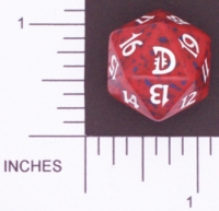 Dice : D20 OPAQUE ROUNDED SPECKLED MTG LIFE COUNTERS DECKMASTERS 02
