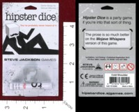Dice : MINT41 STEVE JACKSON HIPSTER DICE MOJAVE WHISPERS