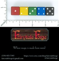 Dice : MINT54 FAIRYTALE FORGE MAGIC THE GATHERING DICE SET