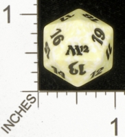 Dice : D20 OPAQUE ROUNDED SPECKLED MTG LIFE COUNTERS M12 02